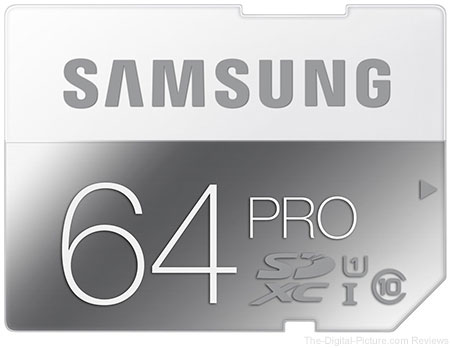 Samsung 64GB PRO Class 10 SDXC Memory Card - $35.99 (Compare at $59.99)