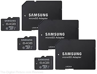 Samsung Pro Series 64GB Class 10 UHS-1 microSDXC Memory Card with Adapter (3-Pack)