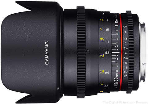 Samyang 50mm T1.5 Cine Lens Available for Preorder