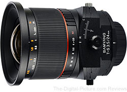 Adorama Now Shipping Samyang 24mm f/3.5 ED AS UMC Tilt-Shift Lens