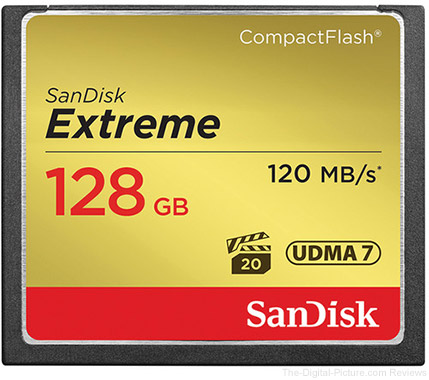 SanDisk 128GB Extreme CompactFlash Memory Card (2-Pack) - $169.94 Shipped (Reg. $238.94)