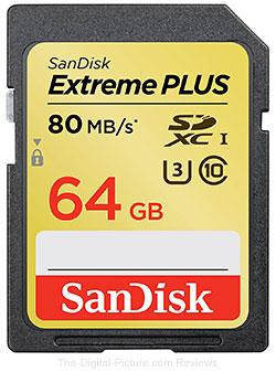 SanDisk 64GB Extreme Plus UHS-I SDXC Memory Card - $39.95 Shipped (Reg. $73.95)