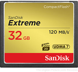 SanDisk 32 GB Extreme 120MB/sec CompactFlash Memory Card