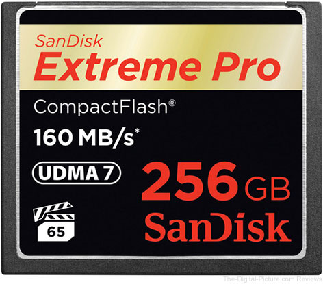 SanDisk Offers 256GB CompactFlash Card Supporting Latest Video Performance Guarantee Specification
