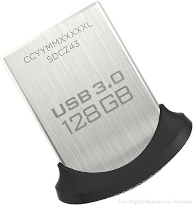 SanDisk Ultra Fit 128GB USB 3.0 Flash Drive - $24.99 (Reg. $39.99)