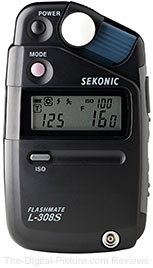 Sekonic L-308S Flashmate (Incident, Reflected & Flash) Light Meter - $175.00 (Compare at $233.00)