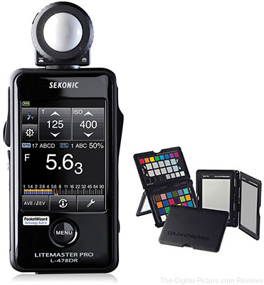 Save $80.00 on the Sekonic LiteMaster Pro L-478DR / L-478D Light Meter + X-Rite ColorChecker Passport Bundle