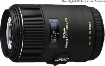 Sigma 105mm f/2.8 EX DG Macro OS HSM Lens for Canon - $600.00 (Compare at $669.00)