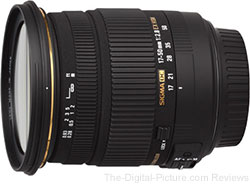 Sigma 17-50mm F2.8 EX DC OS HSM Lens (Canon/Nikon) - $434.00 (Compare at $569.00)