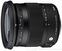 Sigma 17-70mm f/2.8-4 DC Macro OS HSM Lens - $389.00 (Compare at $499.00)