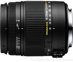 Sigma 18-250mm F3.5-6.3 DC Macro OS HSM Lens - $295.00 Shipped (Compare at $399.00)