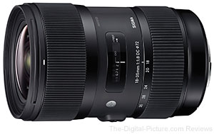 Sigma 18-35mm f/1.8 DC HSM Lens is Now Shipping