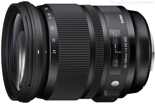 Sigma 24-105mm f/4 DG OS HSM Art Lens for Canon - $809.00 (Compare at $899.00)