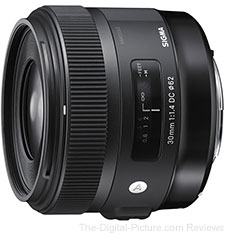 Sigma 30mm f/1.4 DC HSM Art Lens - $430.00 (Compare at $499.00)