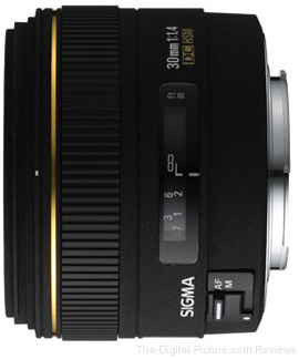 Sigma 30mm f/1.4 EX DC HSM for Canon - $269.00
