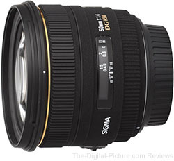 Sigma 50mm F1.4 EX DG HSM Lens - $349.00 Shipped (Compare at $399.00)
