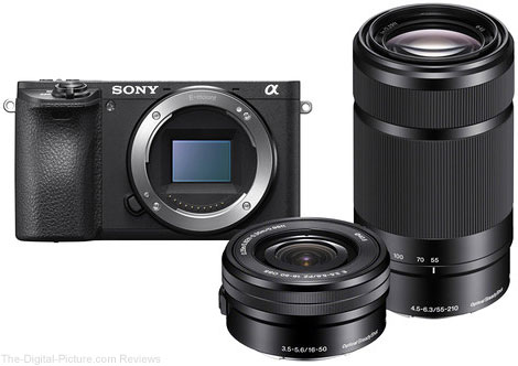Sony Alpha a6500 Mirrorless Camera with 16-50mm and 55-210mm Lenses and Free Accessory Kit - $1,594.00 Shipped (Reg. $2,094.00)