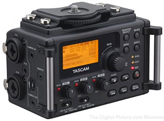 Tascam DR-60D 4-Channel Linear PCM Recorder with PluralEyes 3 Audio/Video Sync Software - $199.99 Shipped