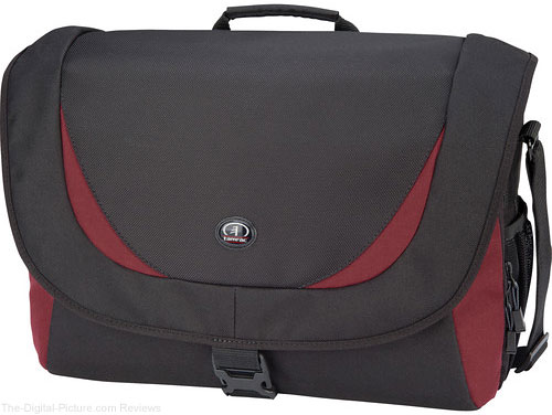 Tamrac 5725 Zuma 5 Photo/Laptop Shoulder Bag (Black/Burgundy) - $24.95 Shipped (Reg. $79.95)