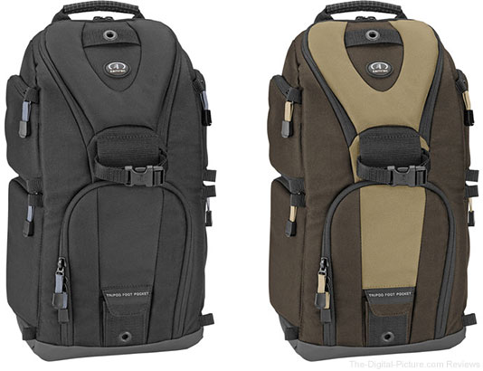 Tamrac 5786 Evolution 6 Photo Sling Backpacks: Black & Brown/Tan