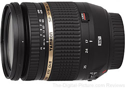 Tamron SP AF 17-50mm f/2.8 XR Di II VC LD IF Lens - $355.00 (Compare at $599.00)