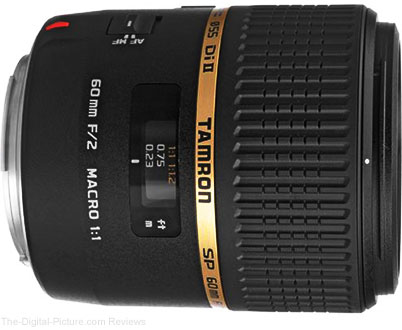 Tamron SP 60mm f/2.0 Di II LD Lens - $374.00 (Compare at $524.00)