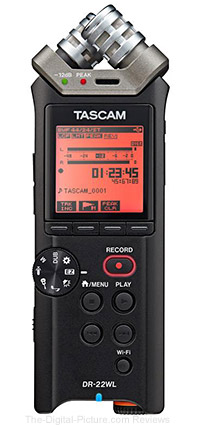 Tascam DR-22WL 2-Channel Handheld Audio Recorder