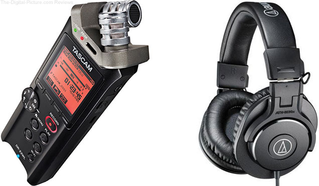 Tascam DR-22WL Recorder with Audio-Technica ATH-M30x Headphones - $169.00 Shipped (Reg. $218.99)