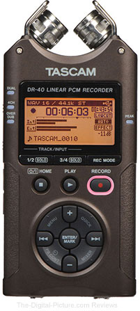 Save $25.00 on the Tascam DR-40 4-Track Handheld Audio Recorder