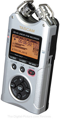 Sold Out: Tascam DR-40 4-Track Handheld Digital Audio Recorder (Silver) - $99.99 Shipped ($179.99)