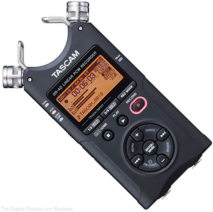 Tascam DR-40 4-Track Handheld Digital Audio Recorder - $158.35 Shipped