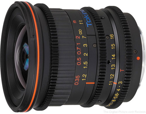 Tokina Cinema 11-16mm T3.0 Lens