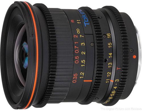 Tokina Cinema 11-16mm T3.0 Lens