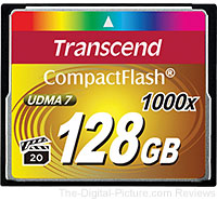 Transcend 128GB CompactFlash 1000x UDMA Memory Card In Stock at B&H