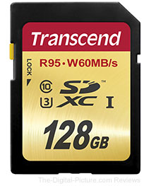 Transcend 128GB UHS-1 SDXC Memory Card (Speed Class 3, 95 MB/s