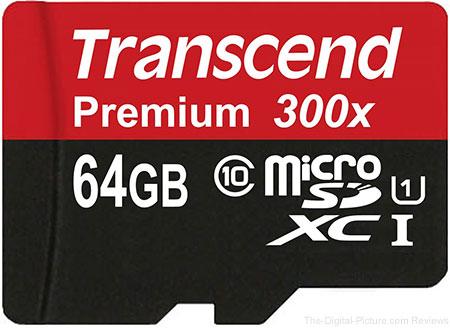 Transcend 64GB MicroSDXC Class10 UHS-1 Memory Card