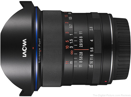 Venus Optics Laowa 12mm f/2.8 Zero-D Lens for Canon Available for Preorder