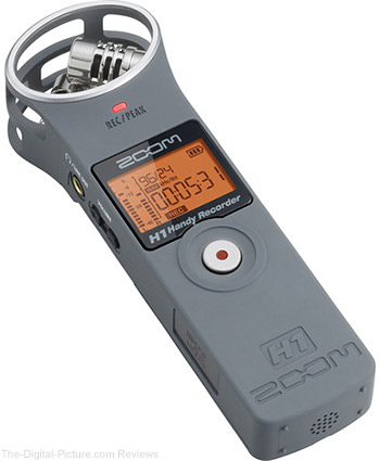 Zoom H1 Ultra-Portable Digital Audio Recorder (Gray) - $64.99 Shipped (Reg. $99.99)