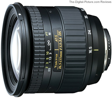 Tokina AT-X 16.5-135mm DX Lens