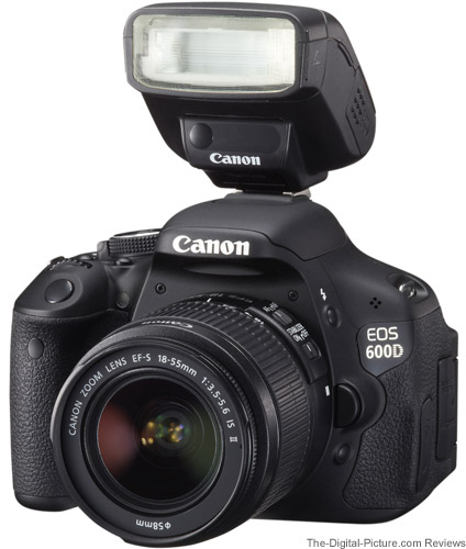 Canon Speedlite 270EX II Flash on Canon EOS Rebel T3i DSLR