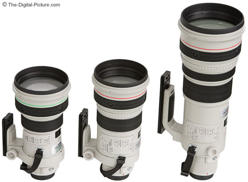 Canon Supertelephoto Lens Size Comparison