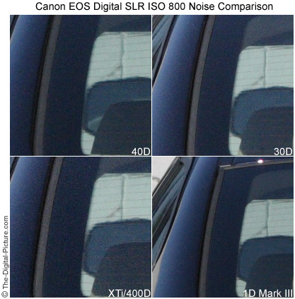 40D ISO 800 noise comparison