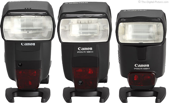 600EX-RT Flash Comparison - Front