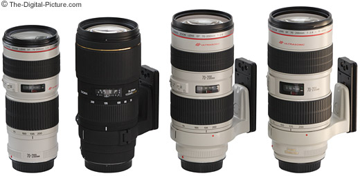 Canon and Sigma 70-200mm Lens Size Comparison