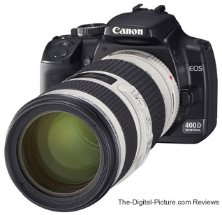 Canon EF 70-200mm f/4L IS USM Lens mounted on an EOS 400D Digital Rebel XTi