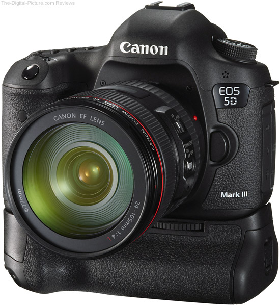 Canon BG-E11 Battery Grip on Canon EOS 5D Mark III