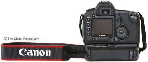 Canon EOS 5D Digital SLR Camera and BG-E4 Back View