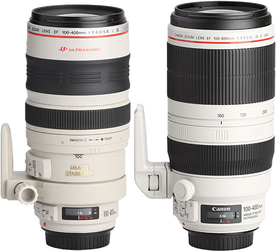 Canon 100-400mm L IS II Lens Compare to Version I