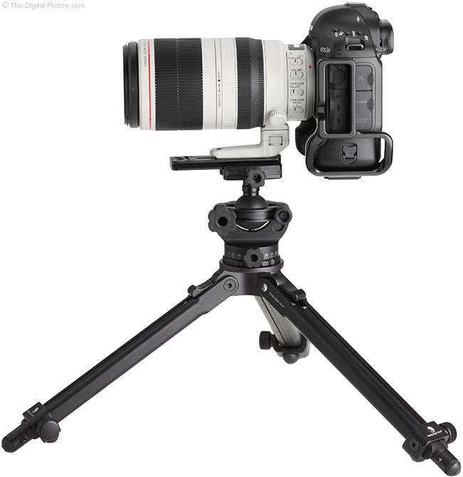Canon EF 100-400mm L IS II USM Lens – Side View on Tripod