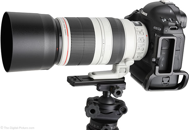 Canon EF 100-400mm L IS II USM Lens – Side View with Hood